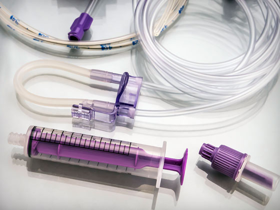Medical PVC tubing and syringe