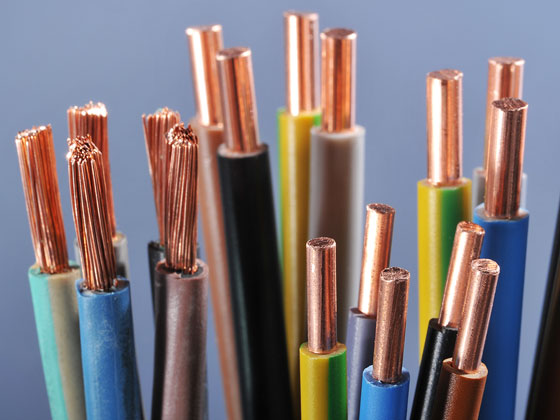 Plastic wrapped copper wires